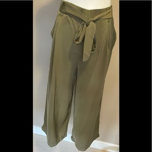 Another Story - Olive Green 3/4 Flow Pant - Size M